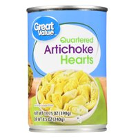 (6 pack) Great Value Quartered Artichoke Hearts, 13.75 oz
