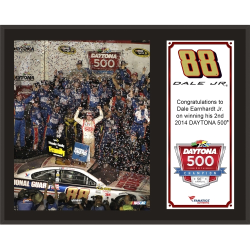 "Dale Earnhardt Jr. Fanatics Authentic 12"" x 15"" 2014 Daytona 500 Champion Sublimated Plaque - No Size"