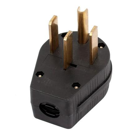 Industrial Grade NEMA 14-50p 50A 125V Straight  US Four Holes Plug 50a 125v Straight Adapter