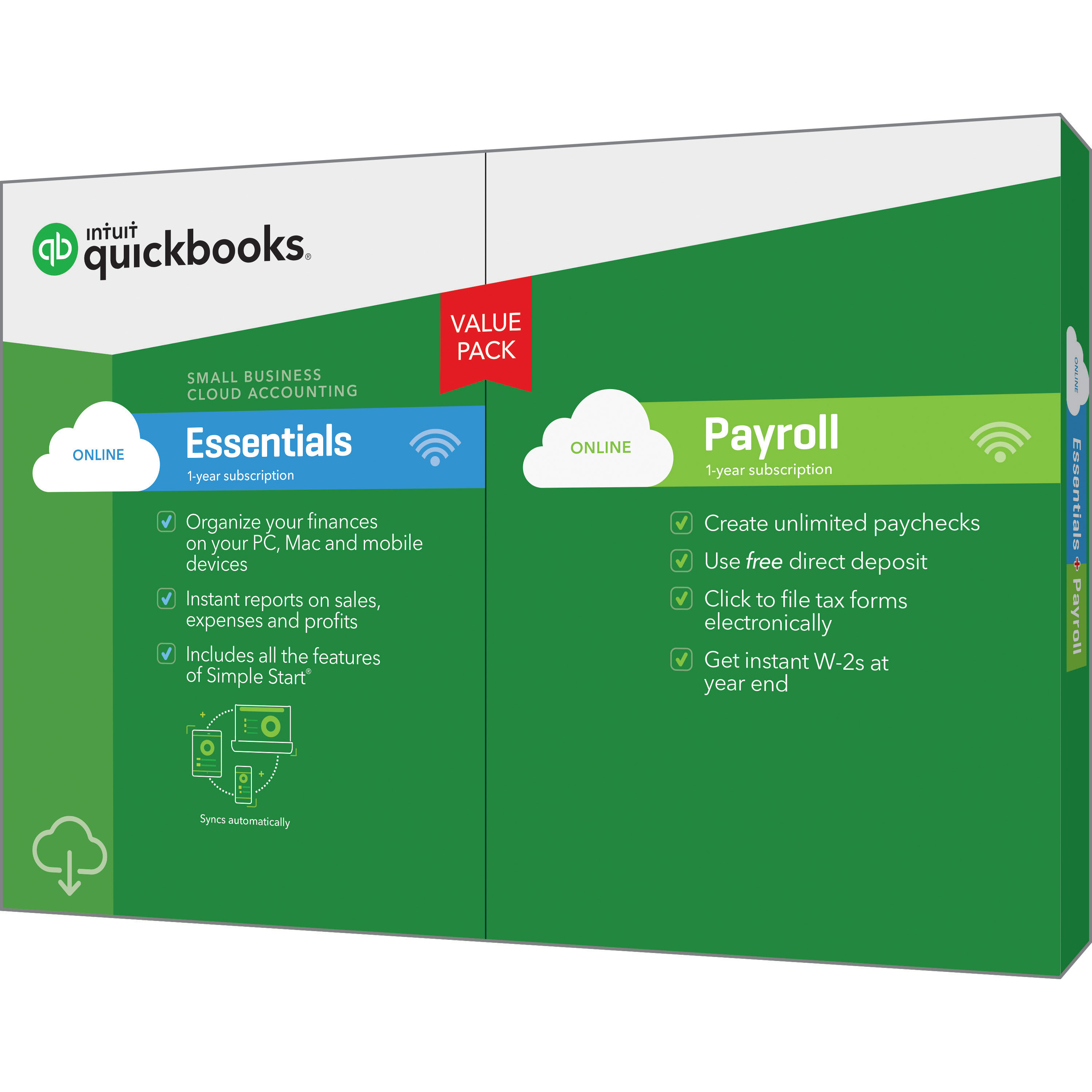 QUICKBOOKS ONLINE ESSENTIALS W/PAY 2018 (Email Delivery)