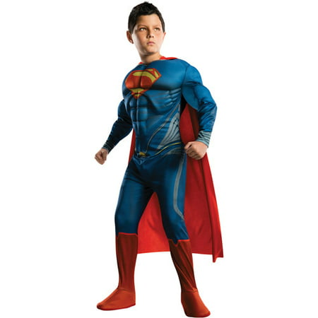 New Halloween Games To Dress Up (Rubies Superman Man of Steel Deluxe Muscle Chest Child Dress-Up)