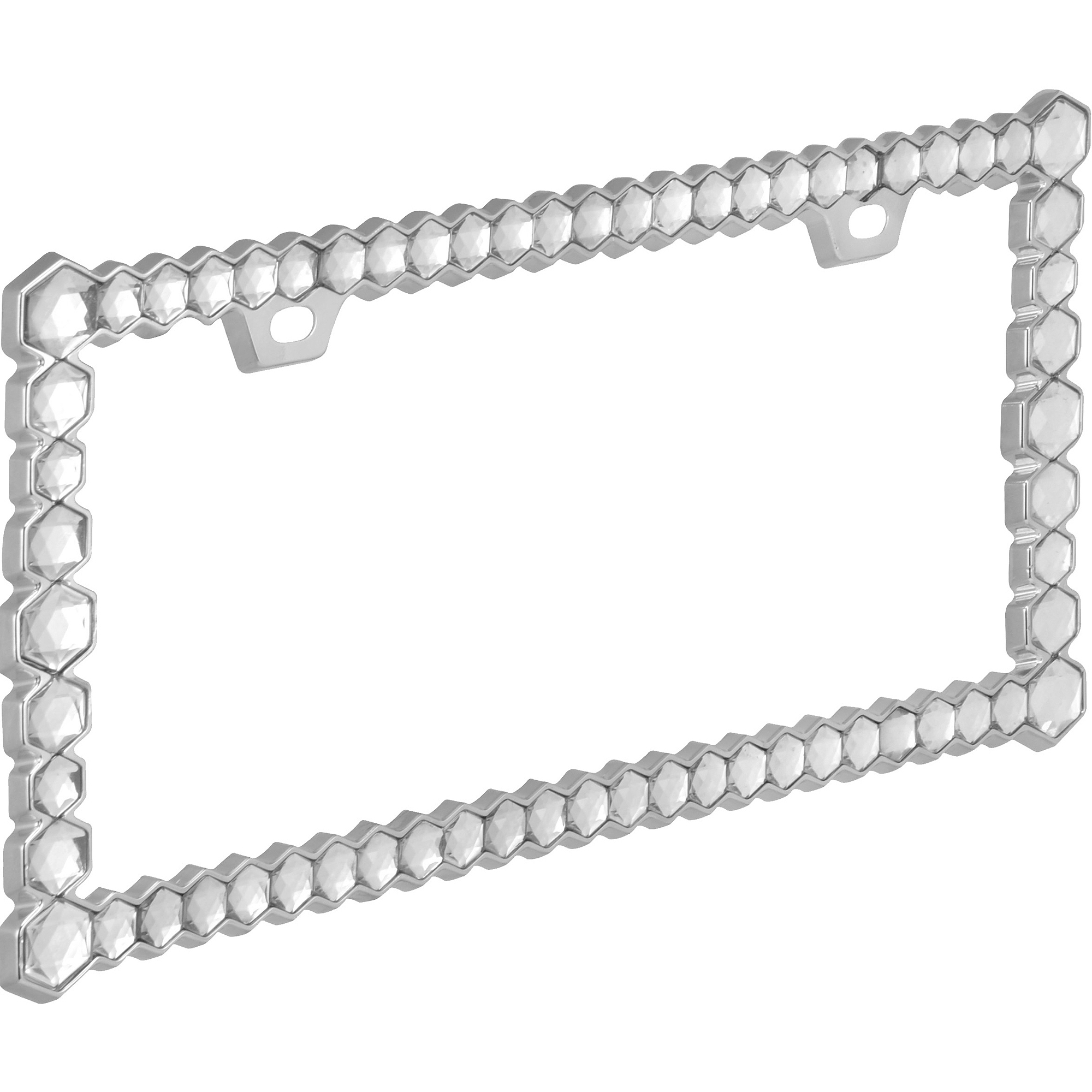 Auto Drive Chunky Diamonds License Plate Frame