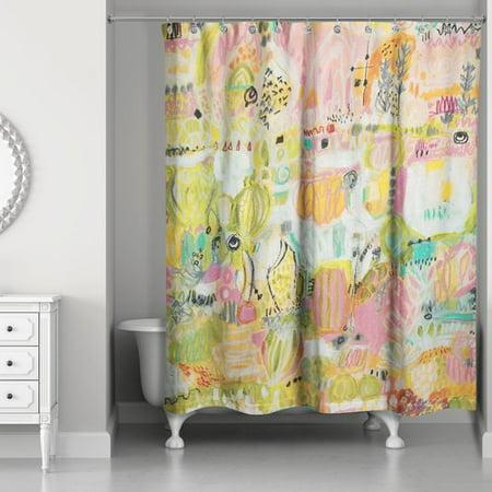 Brayden Studio Goley Garden Shower Curtain - Walmart.com