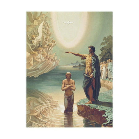 The Baptism of Christ Print Wall Art By Grigori Grigorievich Gagarin Baptism Of Jesus Painting