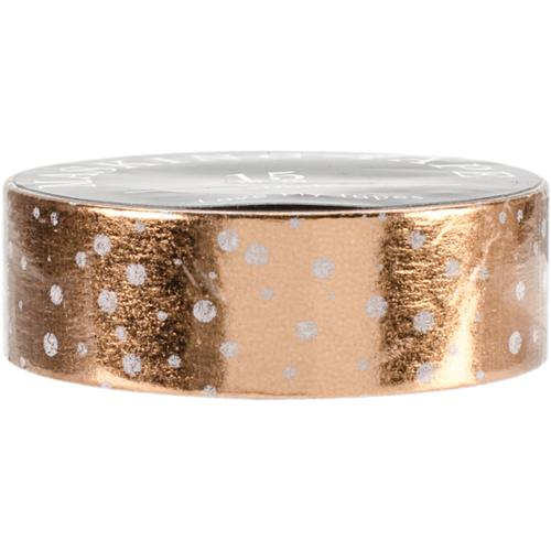 Love My Tapes Foil Washi Tape 15mmx10m-Rose Gold Dots