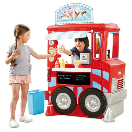Fisher Price Toy Food (Little Tikes 2-in-1 Food Truck w/40+ Piece Accessory)