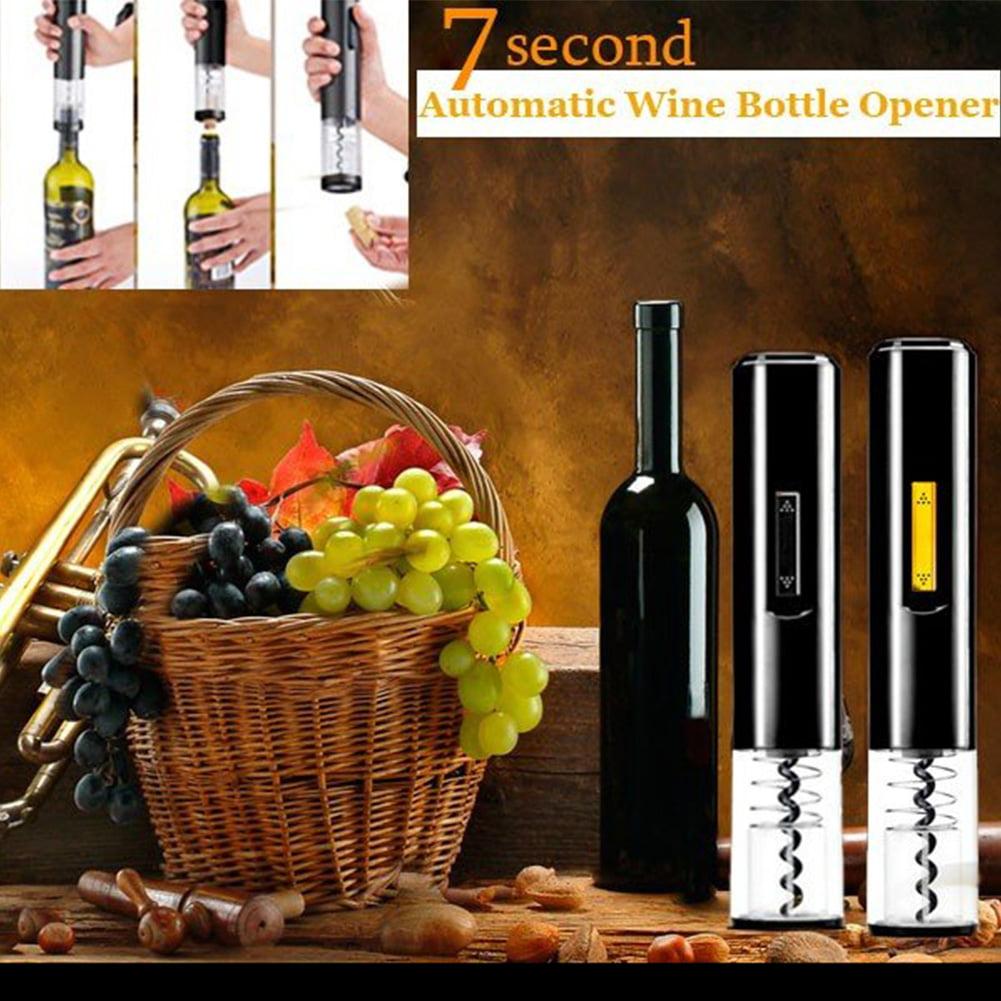 Automatic Wine Opener Electric Wine Bottle Opener Corkscrew Foil Cutter New by