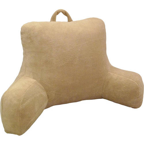 Mainstays Micro Mink Plush Bedrest, Rich Black