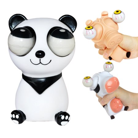Pop Out Eyes Stress Relief Squeeze Reliever Vent Toys Gift Practical Jokes Animal Panda/Dairy -