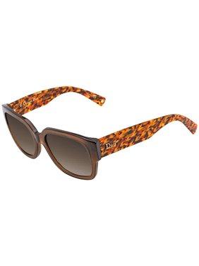 c76c2cda26a6 Product Image Dior Flanellef Brown, Grey Gradient Oval Ladies Sunglasses  DIORFLANELLEF 305 56
