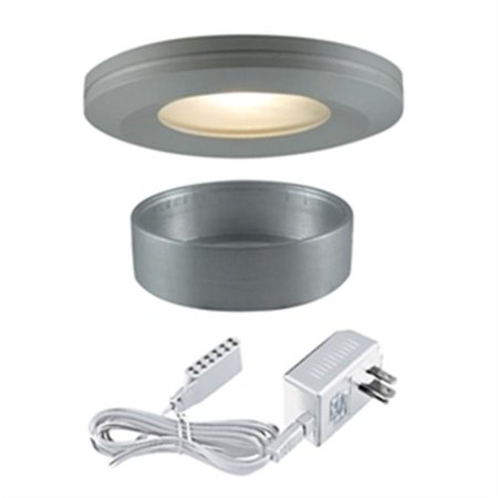 Jesco Lighting PK404SG 72 in. Straight-Edged 12V Slim Disk with 20W Frosted Glass Lens, Silver Grey - image 1 of 1
