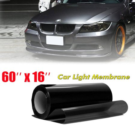 - Car Headlight Tint Film Taillight Vinyl Wrap Fog Light Dark Black 16