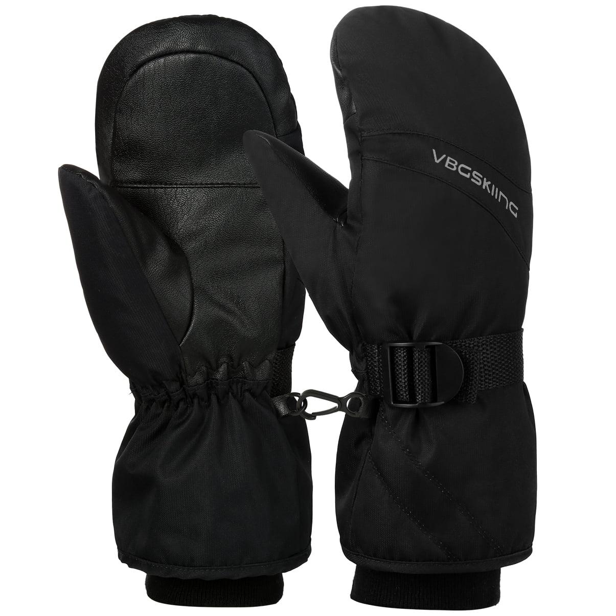 Waterproof Ski Gloves, Vbiger Winter Warm Thinsulate Snowboard Snowmobile Cold Weather Gloves