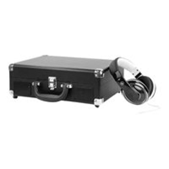 Victrola Bluetooth Portable Suitcase Record Player with 3-speed Turntable,  Black