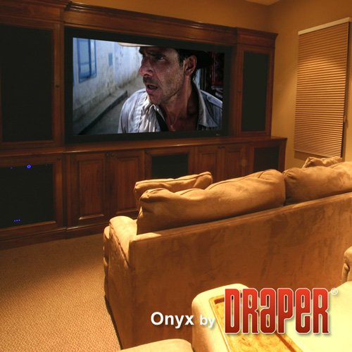 "Onyx Matt White Fixed Frame Projection Screen Viewing Area: 104"" H x 104"" W"