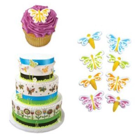 Butterfly & Dragonfly Edible Sugar Cupcake & Cake Decoration Topper-Pack of 16 (Halloween Cupcake Decorations Asda)