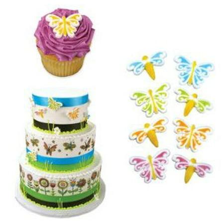 Butterfly & Dragonfly Edible Sugar Cupcake & Cake Decoration Topper-Pack of 16 - Butterfly Cake Decorations