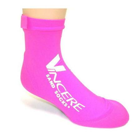 Vincere Unisex Sand Socks Neoprene Beach Scuba Snorkel Shoes (Pink, X Small)