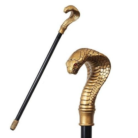 Ancient Egyptian Theme Golden Cobra Snake Walking Cane Prop Party Accessory (Egyptian Party Theme)
