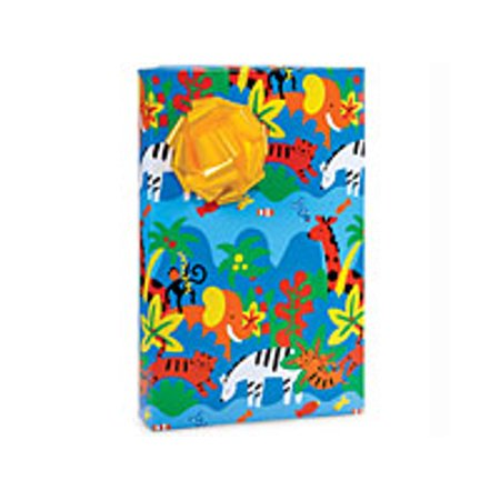 Jungle Down Jungle Animal irthday Birthday / Special Occasion Gift Wrap Wrapping Paper-16ft