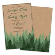Personalized Kraft Forest Wedding Invitations