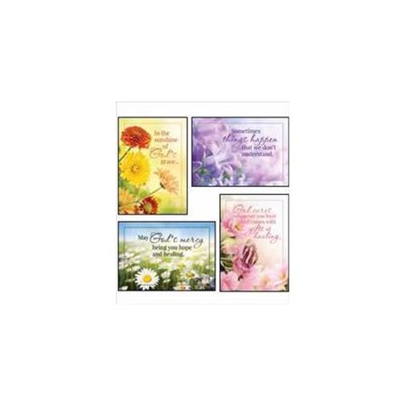 Card-Boxed-Sunny Wishes Assorted Get Well (KJV) (Box Of 12) (Wishing Well Wedding Card Box)