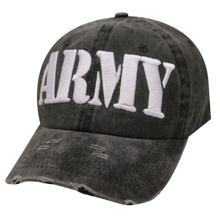 City Hunter Cv440 Army Vintage Baseball Cap -Black