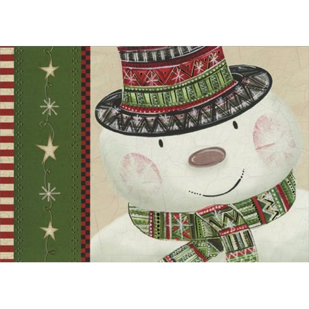 Image Arts Snowman Top Hat Box of 16 Christmas Cards