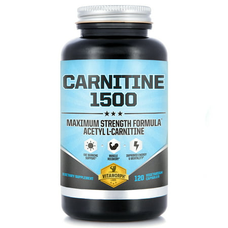Acetyl L-Carnitine 1500mg Per Serving | Maximum Potency Acetyl L-Carnitine HCl Supplement for Mentality, Energy, Fat Metabolization & Weight Loss | 120 Vegetarian (Best L Carnitine Supplement For Weight Loss)