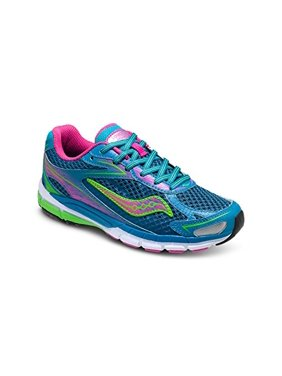 Saucony Girl's Ride 8 Running Shoe, Turquoise, 7 M US Big Kid