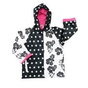 Baby Girls Black White Rain Coat 1T