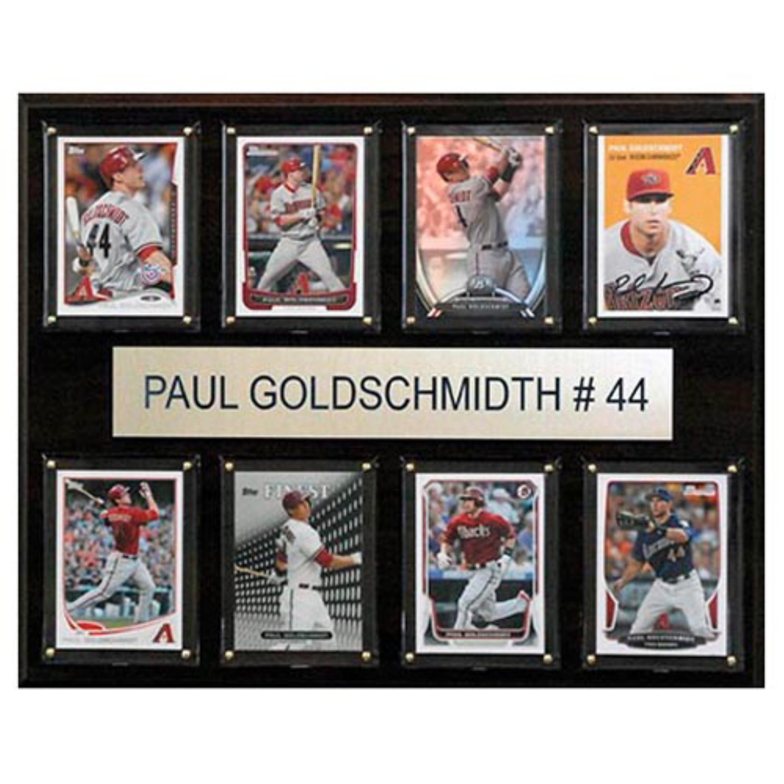 C and I Collectables MLB 15W x 12H in. Paul Goldschmidt Arizona Diamondbacks 8 Card Plaque