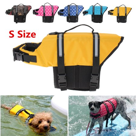 S Size Pet Life Jacket Swimming Float Reflective Life Vest for 15 to 20 lbs Dogs Doggy Cats