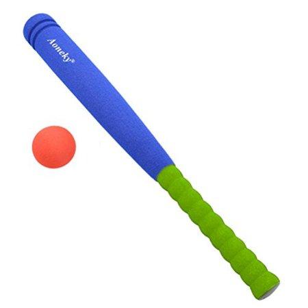 Kids Foam Baseball Bat Toys - Indoor Soft Super Safe T Ball Set for Children Age 3 - 5 Years Old (Foam Baseball Bat)
