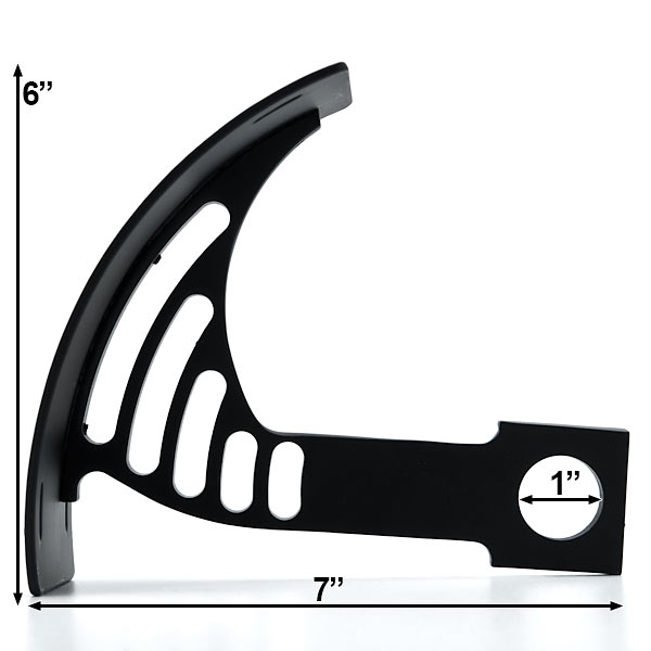 Black Vertical Axle Mount Motorcycle Plate Holder For Honda CM 250 400 450 Custom - image 4 de 5