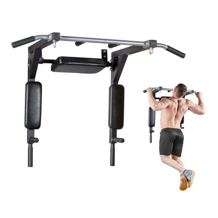 Pull Up Bar Wall Mounted Chin Up Bar Fitness Home Gym Power Full Body Training (Door Mount Pull Up Bar)