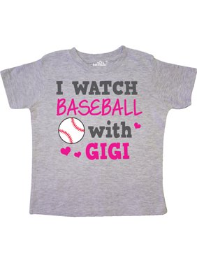 I Watch Baseball with My Gigi Toddler T-Shirt