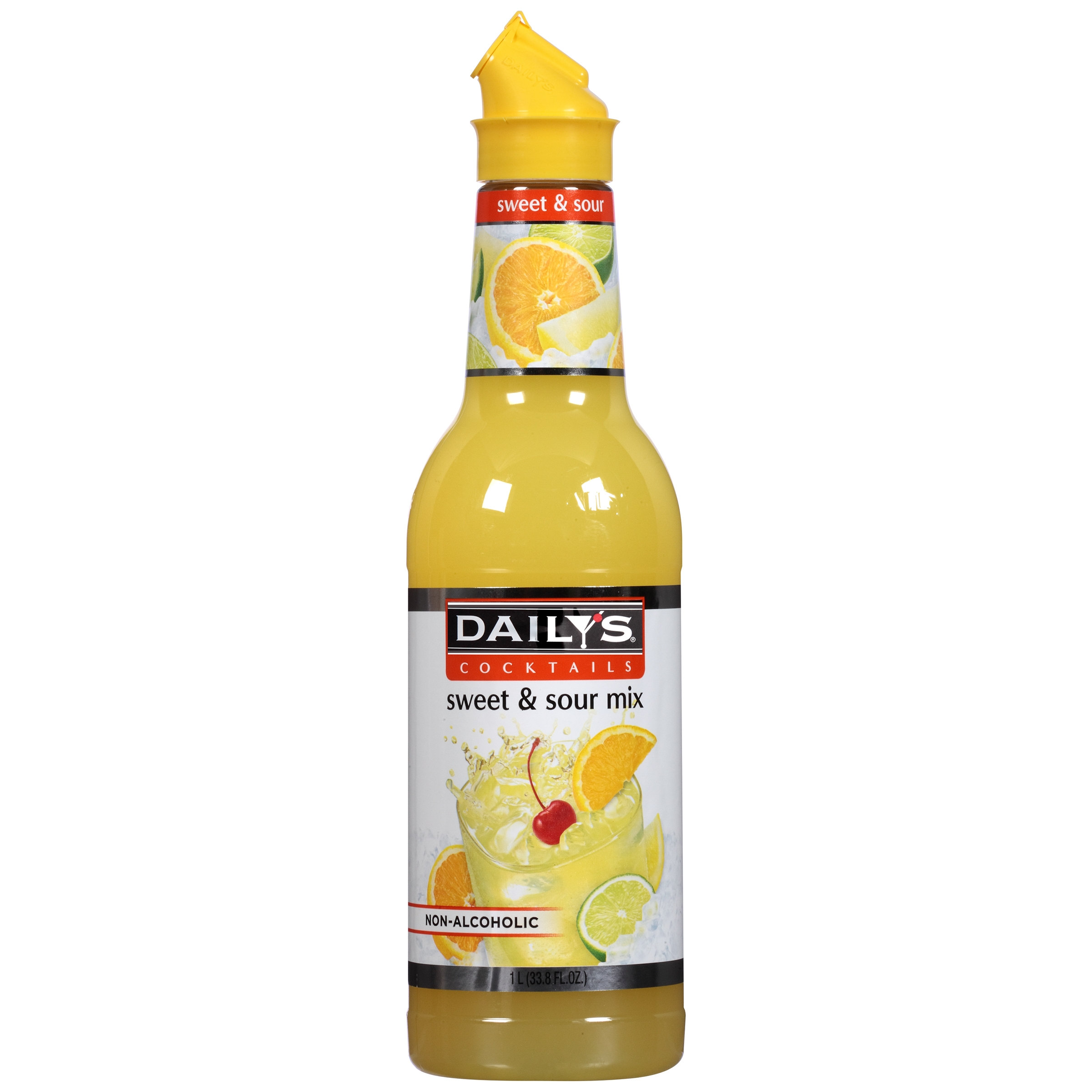 Daily's Cocktails Sweet & Sour Non-Alcoholic Cocktail Mix 33.8 fl. oz. Bottle by American Beverage Corp.