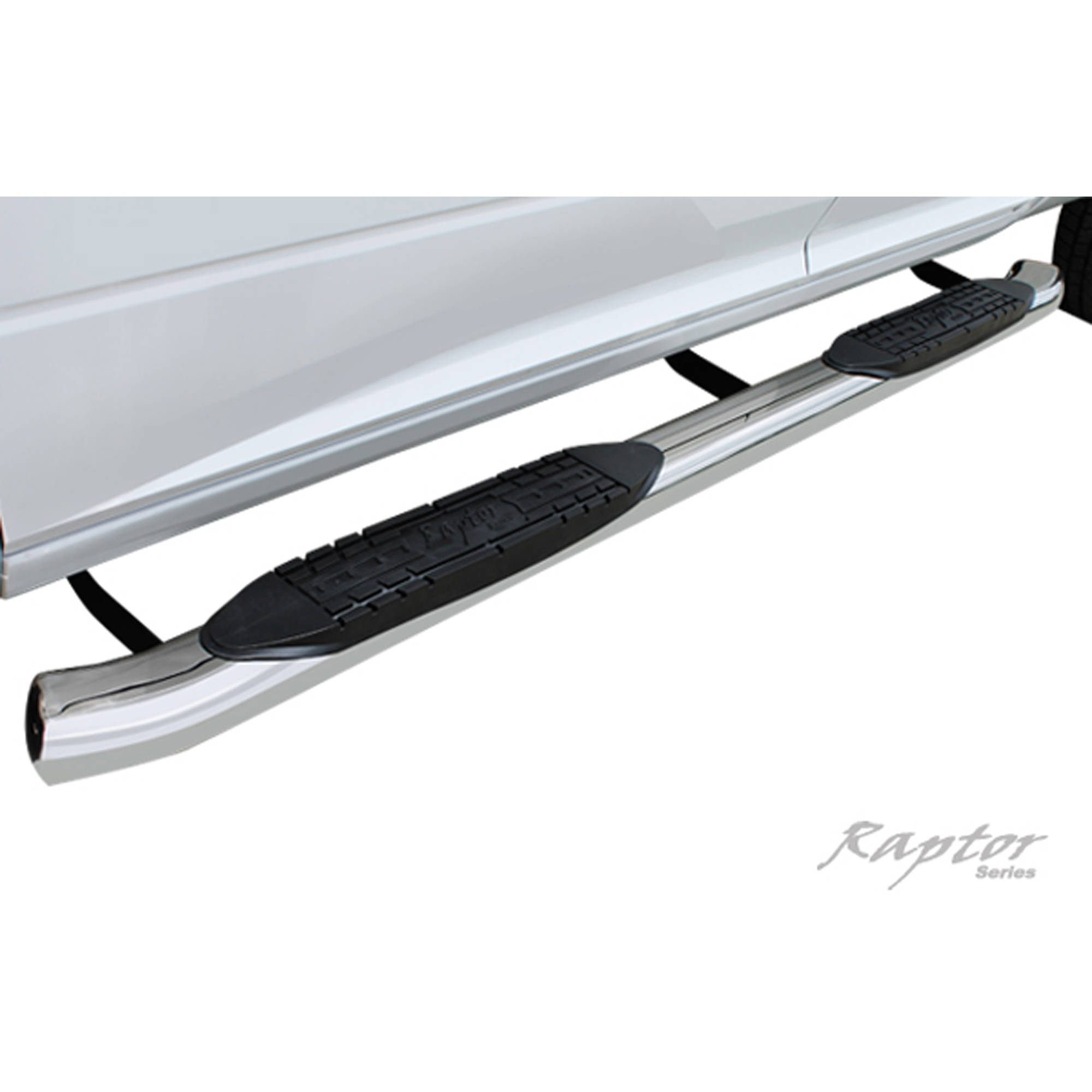 "Raptor Series 99-15 Ford F-250/F350 Super Duty Super Cab 4"" OE Style Curved Oval Steps, Stainless Steel"