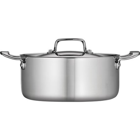 Tramontina 5-Qt Stainless Steel Tri-Ply Clad Covered Dutch