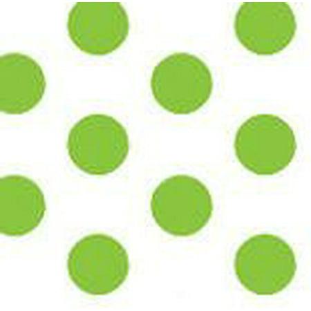 - Green and White Polka Dot Gift Wrap Pom Pom Tissue Paper