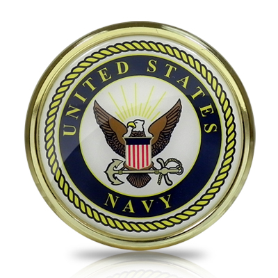 United States Navy Seal Color Metal Auto Emblem