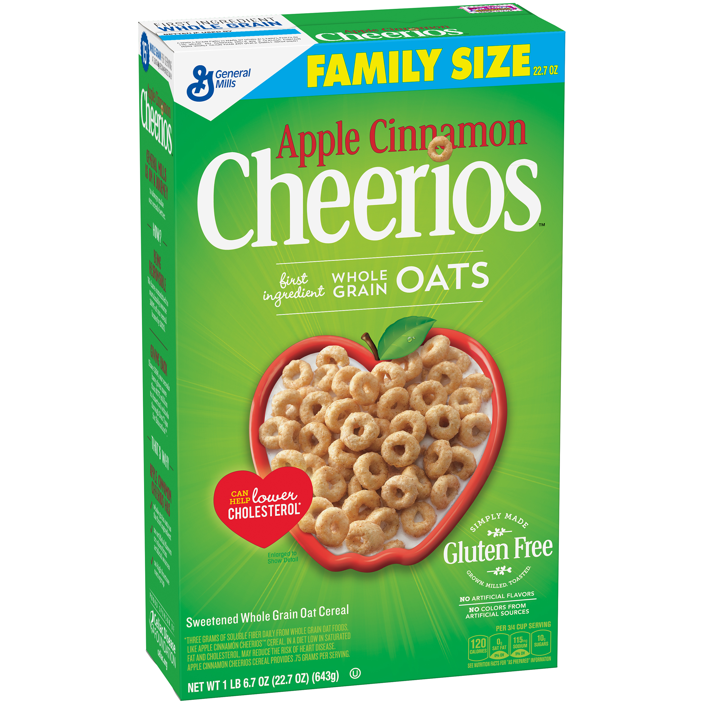 Apple Cinnamon Cheerios�� Gluten Free Cereal 22.7 oz. Box