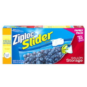 Ziploc Slider Storage Gallon Family Pack 60 Count