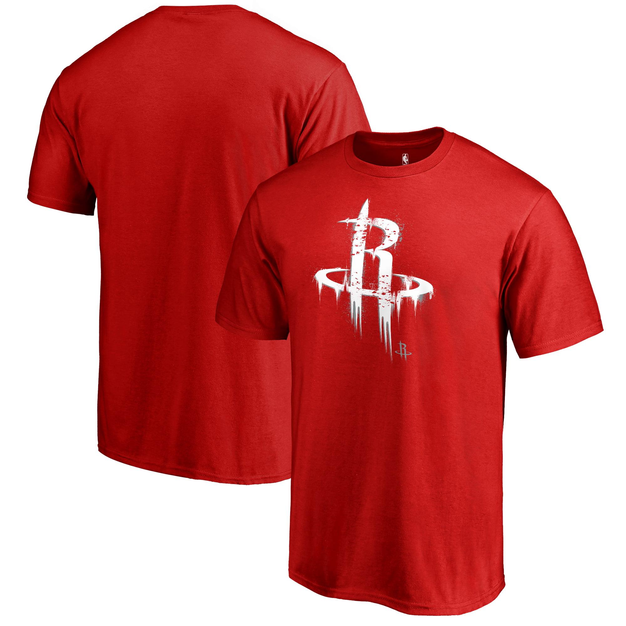 Houston Rockets Fanatics Branded Splatter Logo T-Shirt - Red