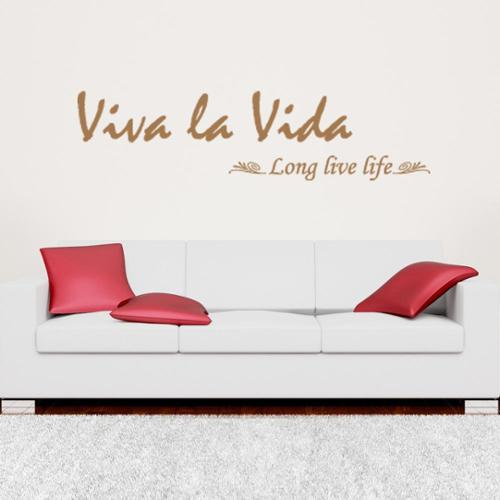 Style and Apply Viva La Vida Quote Phrases Wall Decal