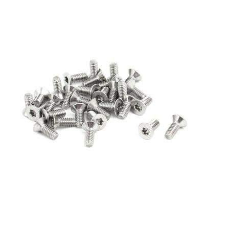 Torx Drive Screws - M2x5mm 304 Stainless Steel Flat Head Torx Drive Type Screw Silver Tone 30pcs