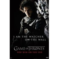 Game of Thrones GoT Watcher on Wall Quote Jon Snow HBO TV Series Poster - 24x36 inch