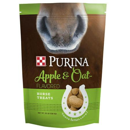Purina Animal Nutrition  Purina Horse Apple and Oat Treats 3 5lb