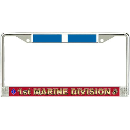 1st Marine Division Korea Veteran License Plate Frame ()